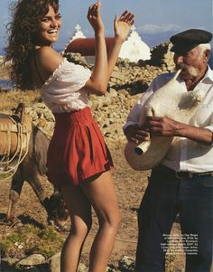 I want to be as pretty, happy, uninhibited and energetic as this Greek dancing girl.  Oh, throw in young also.