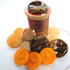 70s Vintage Czech Glass Buttons Sewing Scrapbook by FireflyRetro, $8.50