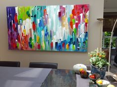 The Colour of Peace - 220 x 120 x 4,5 #abstractart