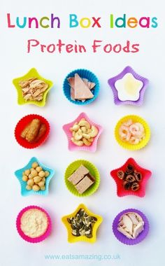 Eats Amazing - Lunch Box Food Ideas - 12 ideas for different non-dairy protein foods to include in your lunch box