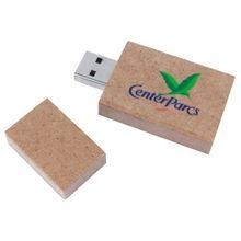 #USB stick #recyclebaar papier - Bedrukken met jouw logo of tekst bij Stravers.nl