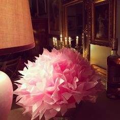 Lots of candles when I entertain and a fun paper flower for my birthday party