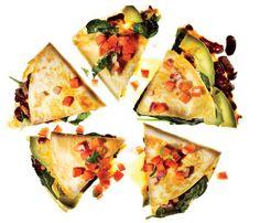 Vegetable Quesadillas With Fresh Salsa #SelfMagazine #Superfood