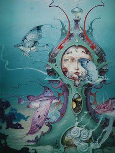 """Perspective from Within"" ~ Daniel Merriam ~ Watercolorist Extraordinaire ~ Miks' Pics ""Daniel Merriam lll"" board @ http://www.pinterest.com/msmgish/daniel-merriam-lll/"