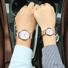 CHENXI Rose Gold Watch Women Quartz Wristwatches Luxury Brand Couple Watches Mesh Belt Bracelet Waterproof Clock Men reloj mujer From Touchy Style Outfit Accessories ( rose gold white men ) Stylish Watches For Girls, Best Kids Watches, Cute Watches, Elegant Watches, Luxury Watches For Men, Beautiful Watches, Cheap Watches, Women's Watches, Wrist Watches