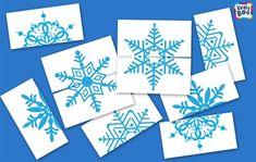 Собираем снежинки snowflake puzzles, free printables