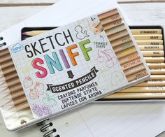 Make your masterpieces stand out above all others by creating them using these scratch and sniff coloring pencils. These unique pencils come in a set of twelve and feature fruity and exotic flavors like coconut, watermelon, and strawberry.