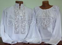 """Вишиті парні сорочки """"у зимового ставка""""Сорочки виготовлені з якісного домотканного білого полотна і прикрашені красивим візерунком, виконаним лічильною гладдю Model, Tops, Fashion, Moda, Fashion Styles, Scale Model, Fashion Illustrations, Models"""