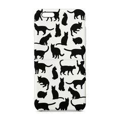 Capa de celular Silhueta gato branco  - Cat Club