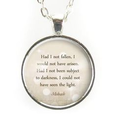 Had I not fallen, I would not have arisen. Had I not been subject to darkness, I could not have seen the light ― Midrash - Pendant size: 1 inch mm) - Chain length: 24 inches - Art print sealed 398005685817686085 Friedrich Nietzsche, Great Quotes, Quotes To Live By, Unique Quotes, Awesome Quotes, Sad Quotes, Wisdom Quotes, Nietzsche Quotes, Motivational Quotes