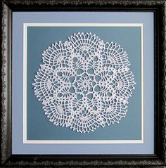 Framed by Frameworks of Utah. Doily Art, Lace Art, Doilies Crafts, Crochet Doilies, Decor Crafts, Diy And Crafts, Fun Crafts, Framed Doilies, Crochet Wall Art