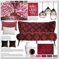 LOVE Seat! by lisajean1957 on Polyvore featuring interior, interiors, interior design, home, home decor, interior decorating, Safavieh, Harbor House, CB2 and Carlo Moretti
