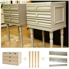 DIY - Decorative Nightstands - An Anthropologie knock-off. Full Step-by-Step Tutorial.