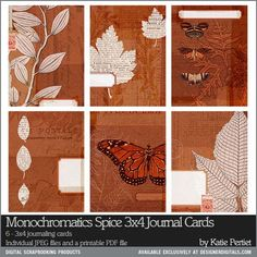 Monochromatics free 3x4 printable quote card with vintage botanicals for project