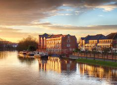 Sunrise on the river Ouse Terry Avenue York