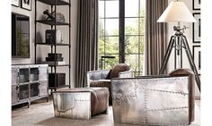 The Chicago interior design guide to the sophisticated 'man cave'_aviator chair