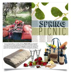 """Picnics are Romantic"" by clotheshawg ❤ liked on Polyvore featuring interior, interiors, interior design, home, home decor, interior decorating, Waterford and springpicnic"