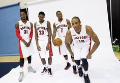 Images from the team's media day at the Air Canada Centre in Toronto Toronto Raptors, Nba Basketball Teams, Basketball Stuff, Sports Teams, Rap City, But Football, Lou Williams, Air Canada Centre, Kyle Lowry