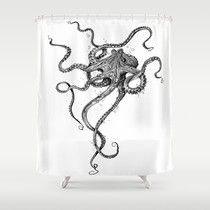 Best Black and White Octopus Shower Curtain Reviews Powered by RebelMouse #Home Garden