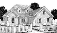 Traditional Style House Plans - 1960 Square Foot Home, 1 Story, 3 Bedroom and 2 3 Bath, 2 Garage Stalls by Monster House Plans - Plan 11-252