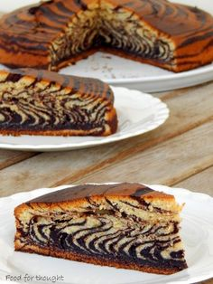 Food for thought: Ζέβρα κέικ Sweets Recipes, Cookie Recipes, Desserts, Cake Cookies, Cupcake Cakes, Food Cakes, Cupcakes, Leopard Cake, Greek Sweets