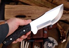 CFK USA IPAK Custom Handmade D2 EVIL-SKULL-PILE Tracker Bushcraft Hunter Knife | eBay
