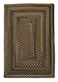 141 BEIGE,CREAM TWEED BRAIDED AREA RUGS By COLONIAL RUG-MANY SIZES BLACK