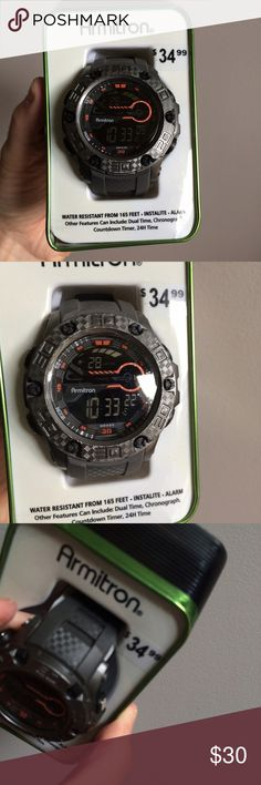 NWT Men's Digital Watch Armitron Brand new in box. Retail $34.99. Will not be priced lower. No offers please. Armitron Accessories Watches