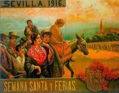Cartel de Las Fiestas de Primavera de Sevilla 1916