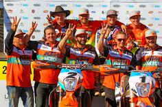 The 480-kilometre, two-day return journey from Alice Springs to Finke saw Red Bull KTM Rally team rider Toby Price equal the record for the highest number of Finke victories, winning his fifth title in a stunning KTM 500 EXC trifecta.