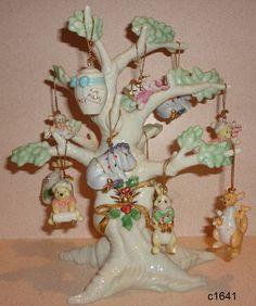 Lenox Ornament Tree 2004 Winnie The Pooh Set of 11 Ornaments New