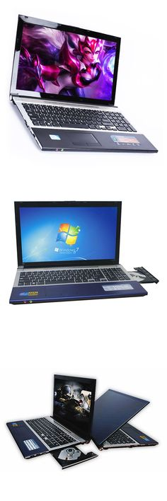 15.6inch Intel Core i7 CPU DVD-ROM  4GB RAM 500GB HDD gaming laptops Windows 7/10 Laptop Notebook Computer  Russia free shipping