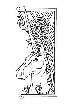Dessin d'une licorne qui t'attend pour le colorier