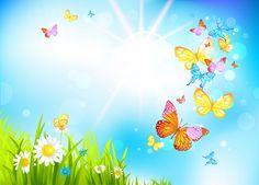 Explore Spring Butterflies Wallpaper on WallpaperSafari Easter Wallpaper, Spring Wallpaper, Butterfly Background, Butterfly Wallpaper, Cartoon Background, Art Background, Blog Backgrounds, Wallpaper Backgrounds, Wallpapers