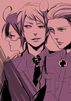 Austria, Prussia, Germany---- Anyone notice Austria' s eye color is a mix of Germany' s and Prussia' s?