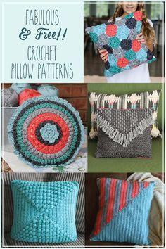 5 Fabulous and Free Crochet Pillow Patterns