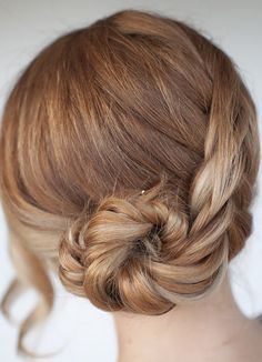 Rose Braid Bun Hairstyle Step By Step ~ Girly Island