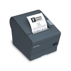 Epson Thermal Receipt Printer, Energy Star Rated, USB and DMD Interface, With Power Supply, Dark Gray. USB and dmd interface. With power supply. Hp Printer, Photo Printer, Printer Paper, Usb, Fast Print, Technology Gifts, Business Technology, Thermal Printer, Cover Design