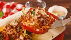 Spaghetti Stuffed Peppers