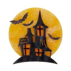 On Haunted Hill Brooch (Erstwilder Resin Haunted House Brooch) Belle Halloween, The A Team, Haunted Mansion, Resin Jewelry, Jewellery, Old Houses, Old Things, Mansions, Unique