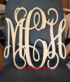 18 Inch Wooden Monogram Letters. Great For Weddings, Birthdays, Gifts,  Nursery And Home Decor