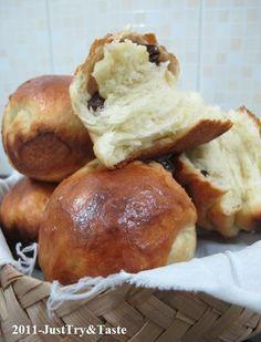 roti gulung kismis yang empuk, lembut dan mudah dibuat