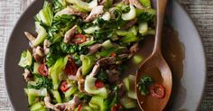 Duck is easy to get right in this Asian stir fry with punchy ginger and pak choi. It's easy to make and super healthy - under 300 calories and only takes 15 minutes