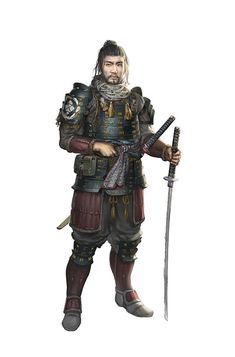 Shiro by timmi-o-tool samurai sword player character npc armor clothes clothing fashion player character npc | Create your own roleplaying game material w/ RPG Bard: www.rpgbard.com | Writing inspiration for Dungeons and Dragons DND D&D Pathfinder PFRPG Warhammer 40k Star Wars Shadowrun Call of Cthulhu Lord of the Rings LoTR + d20 fantasy science fiction scifi horror design | Not Trusty Sword art: click artwork for source