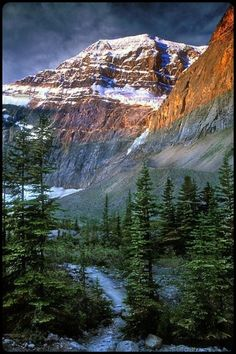 Mt Edith Cavel - Jasper, Canada Very well done for scenery. Oh The Places You'll Go, Places To Travel, Places To Visit, Travel Destinations, Beautiful World, Beautiful Places, Simply Beautiful, Jasper Canada, Jasper Ab
