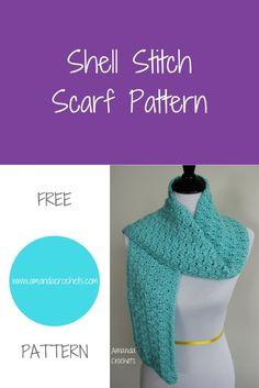 shell stitch scarf pattern