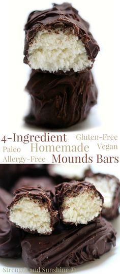 Homemade Mounds Bars.