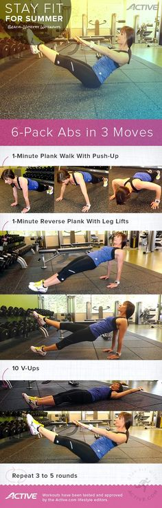 6-Pack Abs in 3 Moves Infographic