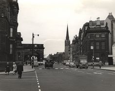 Neville Street, Newcastle upon Tyne, The portico of Newcastle Central Station is the low, flat-topped structure with the clock Local History, Family History, Old Pictures, Old Photos, 1960s Britain, Newcastle Gateshead, Salt Of The Earth, Somewhere In Time, North East England