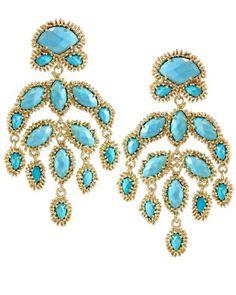 kendra scott 'ashton' earrings in turquoise